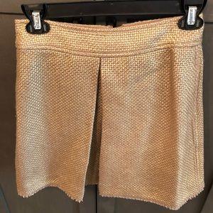 Gold metallic Mini skirt -banana republic